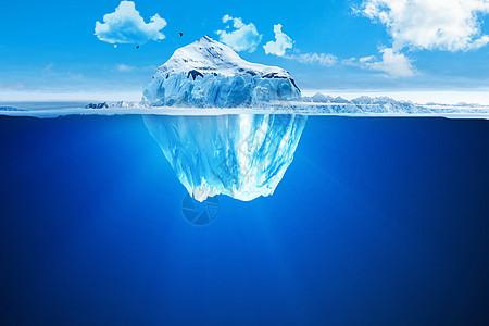 美丽冰山景观图片