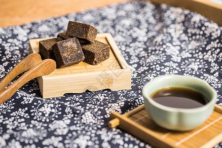 黑糖茶养生保养养颜美颜摆拍桌面食品图片