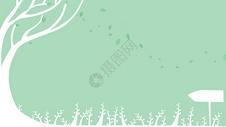 小清新绿色叶子背景图片