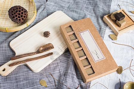 黑糖茶叶下午茶手工制作背景摆拍图片
