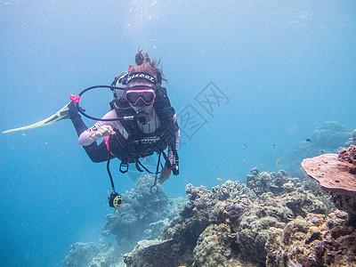 潜水海洋潜水员图片