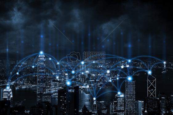 夜色城市虚拟科技图片