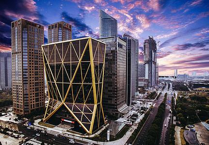 城市中的高楼建筑图片