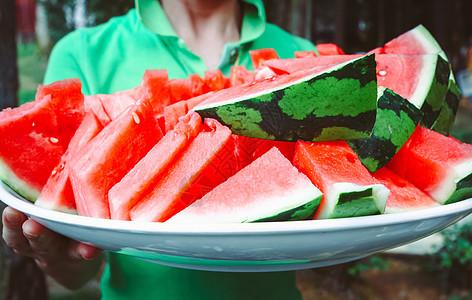 夏天水果西瓜图片