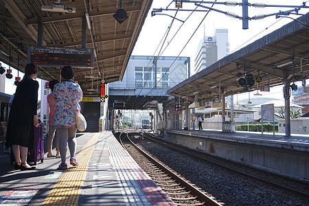 日本火车JR线路站台图片