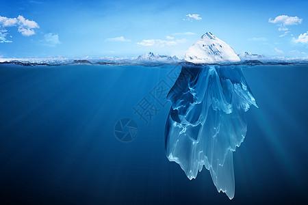融化的冰山图片