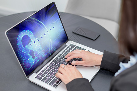 网络安全商务女性办公职场白领 图片