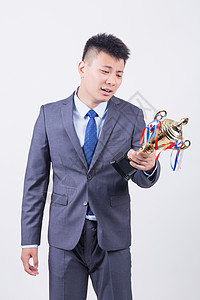 商业男性人像奖杯图片