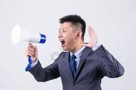 商务人像男性喇叭图片