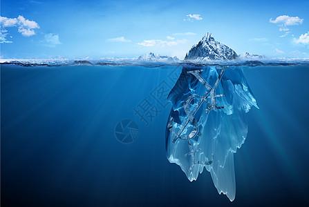 冰山一角的经济图片