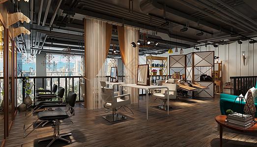 北欧风美发间室内设计效果图图片