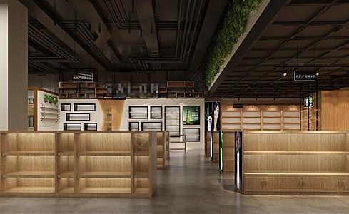 工业风展厅卖场室内设计效果图图片