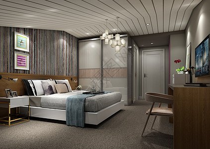 北欧风卧室室内设计效果图图片