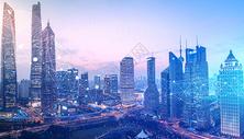 天空城市背景图片