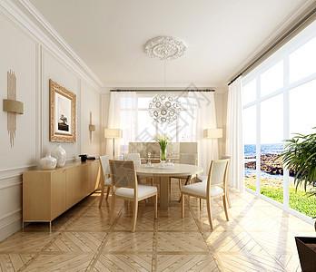 北欧风餐厅室内设计效果图图片
