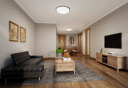 日式客厅室内设计效果图图片