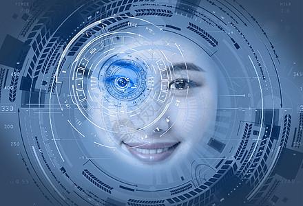 美女的科技眼睛图片