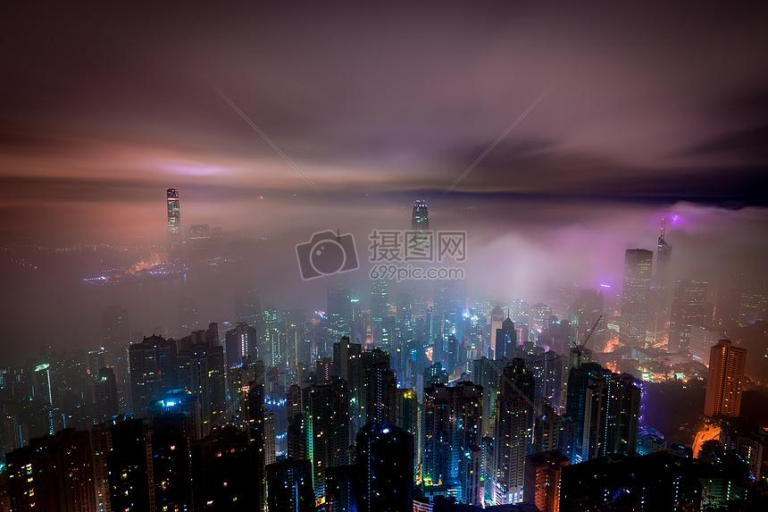 云海中的香港图片