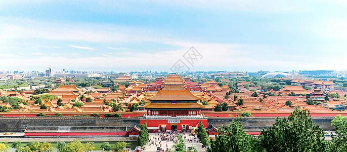 北京故宫建筑全景图片