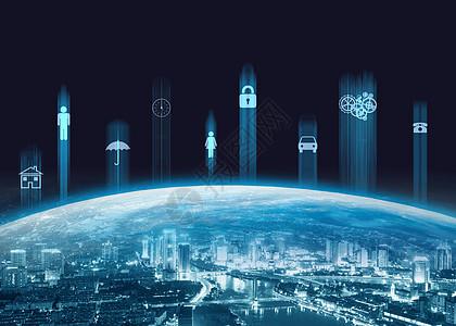 夜景城市元素链接图片