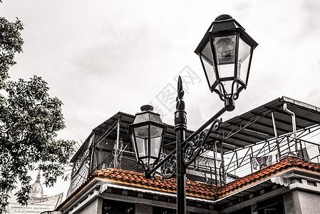 澳门街景路灯图片