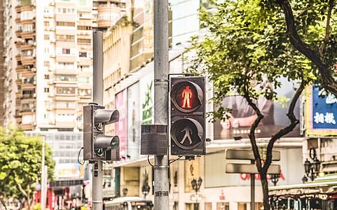 澳门的路口红灯 图片