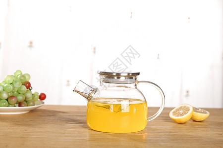 一壶柠檬茶图片