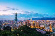中国台湾省台北101大楼夜景图片