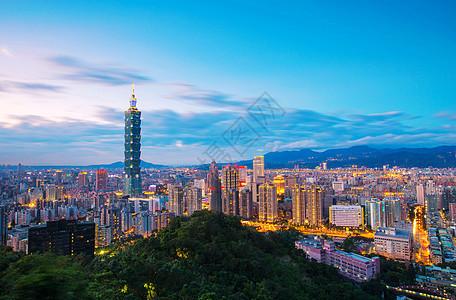 台湾省台北101大楼夜景图片