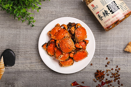 香辣蟹图片