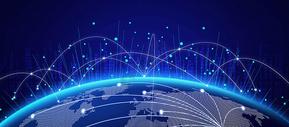 科技地球线条炫酷背景图片