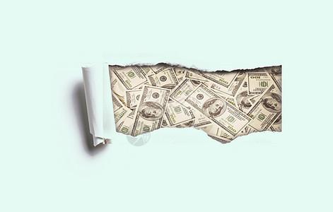 太有财运撕出美元图片