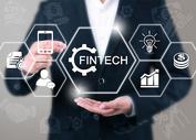 企业网络财务概念FinTech齿轮计算机图片