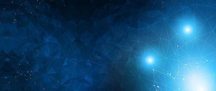 蓝色版块式科技背景图片