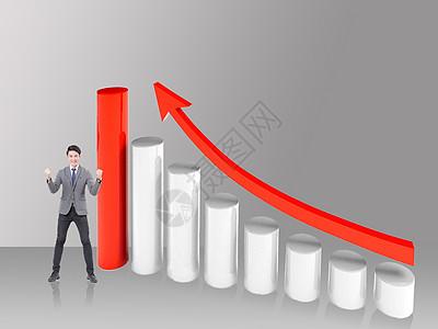 面对企业增长的人图片