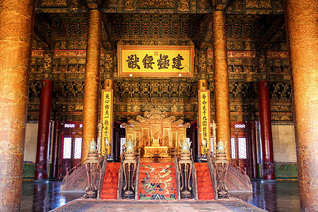 北京故宫太和殿内景图片