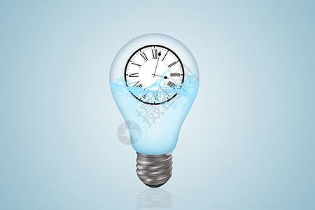 时间灯泡图片