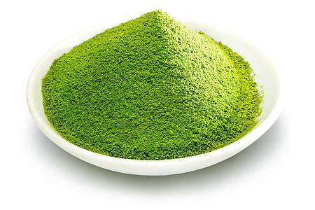 盘子里的抹绿茶粉图片