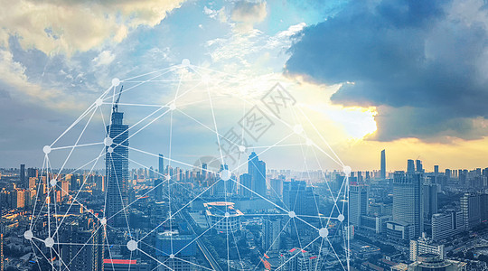 蓝天下的城市图片