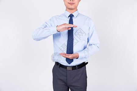 商务男士双手开掌合掌手势动作图片