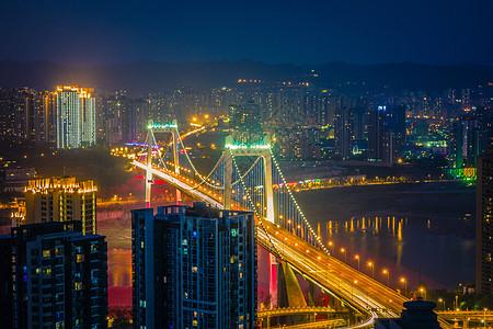 重庆鹅公岩大桥夜景图片
