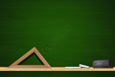 绿色黑板图片