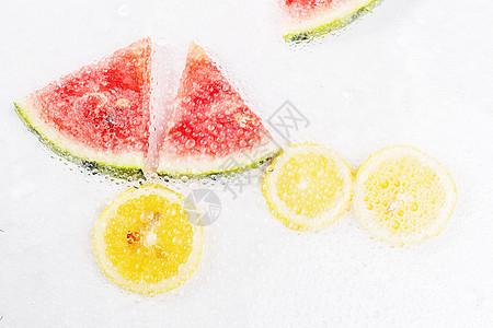 创意西瓜柠檬组合图片