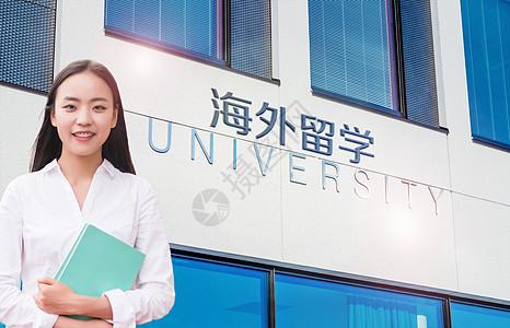 海外留学人物建筑背景图片图片