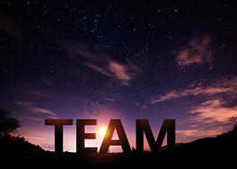企业团队理念混合媒体图片