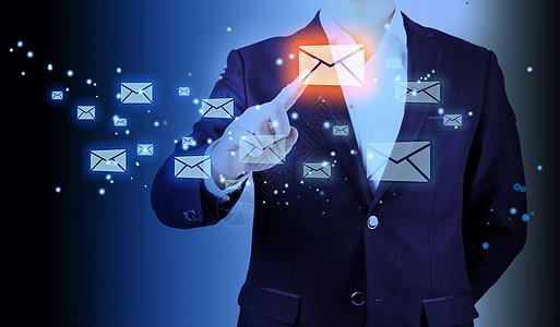 商务男士点击邮箱互联网科技便捷图片