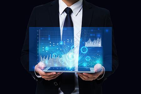 云端大数据商务平板办公互联网科技图片
