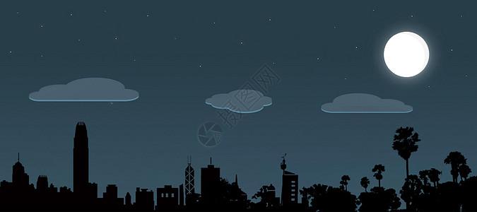 夜晚城市简约背景图片