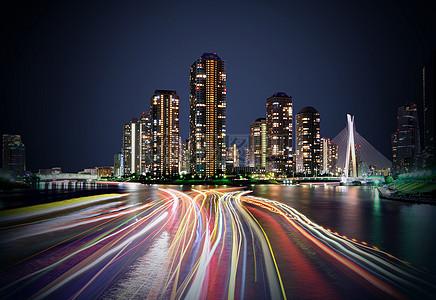 城市的霓虹路图片