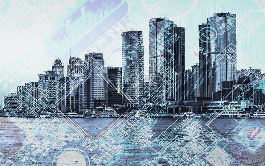 标签: 概念建筑大数据电路板网络集成电子芯片职场城市商务背景入侵